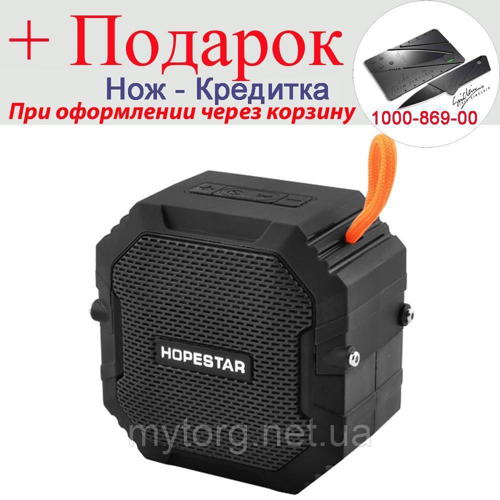 Бездротова Bluetooth колонка HOPESTAR T7 waterproof, speakerphone, радіо Чорний