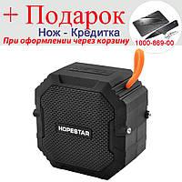 Бездротова Bluetooth колонка HOPESTAR T7 waterproof, speakerphone, радіо Чорний, фото 1