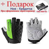 Велосипедные перчатки RockBros без пальцев L Зеленый, фото 1