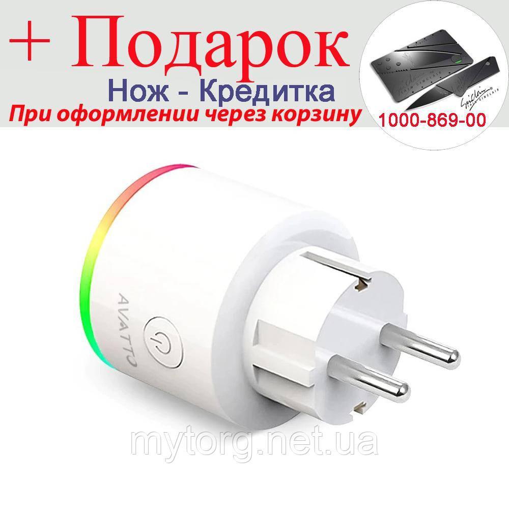 Розумна Wi-Fi розетка Avatto16A 16 А EU RGB
