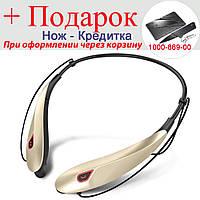 Гарнітура Naiku Y98 Bluetooth 24 ГОДИНИ МУЗИКИ (ПЕРЕВІРЕНО МАГАЗИНОМ!) Золотий, фото 1