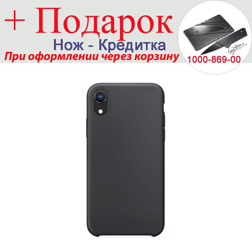 Чехол накладка для iPhone XR силиконовая iPhone XR Черный