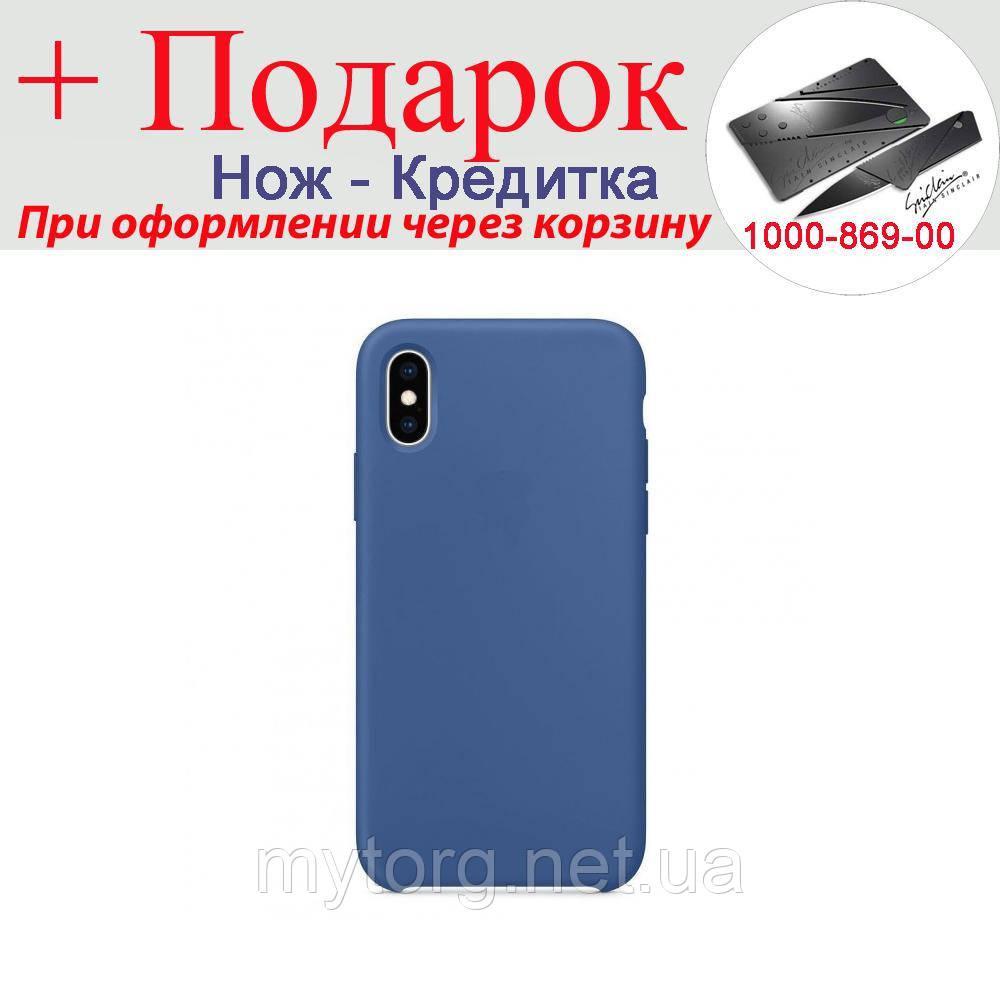 Чохол накладка для iPhone X силіконова iPhone X Синій