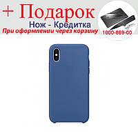 Чохол накладка для iPhone X силіконова iPhone X Синій, фото 1