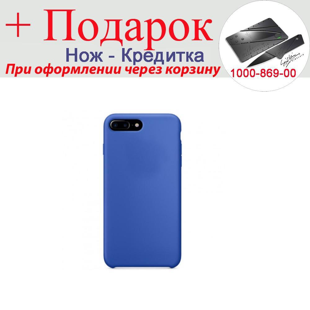 Чохол накладка для iPhone 7 Plus силіконова iPhone 7 Plus Синій