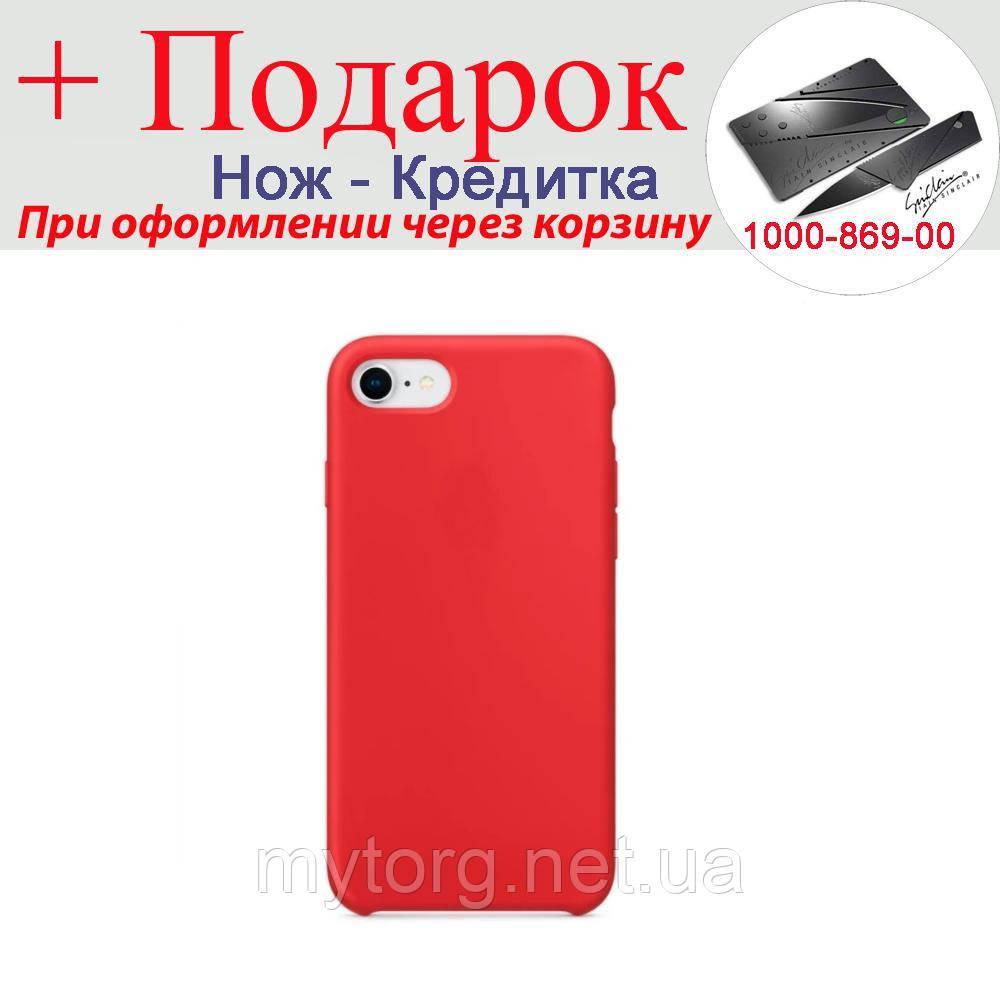 Чехол накладка для iPhone 7 силиконовая iPhone 7 Красный