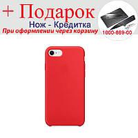 Чехол накладка для iPhone 7 силиконовая iPhone 7 Красный, фото 1