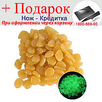 Светящиеся камни для декора сада аквариума 100 шт Золотой