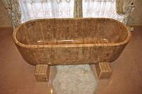 Деревянная ванна из натурального дерева
