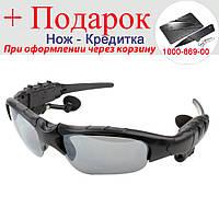 Гарнітура окуляри Lesko Bluetooth бездротова Чорний
