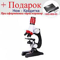 Набір лабораторний з мікроскопом Limo Toy дитячий навчальний 1200 х