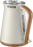 Електричний чайник Concept RK3310 Nordic Чехія (Нержавіюча сталь, 1.7 л)