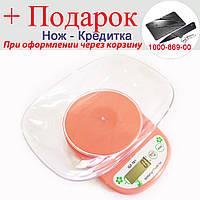 Кухонні Ваги QZ-161A, 5кг (1г), чаша Рожевий