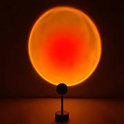 Проекционный ночник Красный закат. Ночной светильник Закат USB. Настольный светильник Red Sunset 27 см