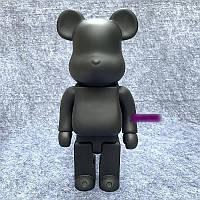 Дизайнерская игрушка Беарбрик черный. Статуэтка Bearbrick 70 см. Фигурка для интерьера медведь Беарбрик .
