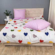 Комплект постельного белья KrisPol «Райдужное сердце» 180x220 Ранфорс