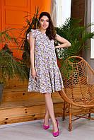 """Сукня жіноча полубатальное з принтом, розміри 50-54 """"INGHIR"""" купити недорого від прямого постачальника"""