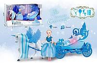 Карета с куклой для девочки, свет, звук, на батарейках (2231)