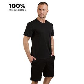 Футболка мужская, 100% хлопок premium, черный