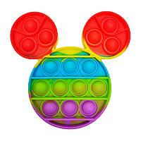 """Іграшка-антистрес """"POP-IT"""" PPT-M(Multicolor) Міккі Маус"""