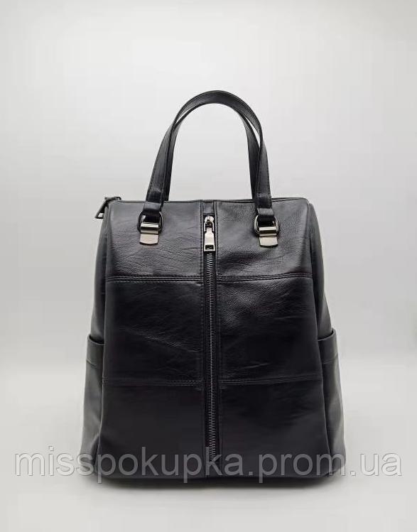 Женская сумка - рюкзак черный цвет