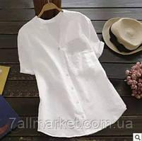 """Сорочка жіноча стильна лляна, розміри 42-52 (3ол) """"Zig Zag"""" купити недорого від прямого постачальника"""