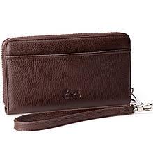 Мужской кошелек клатч Karya 0705-39 кожаный коричневый