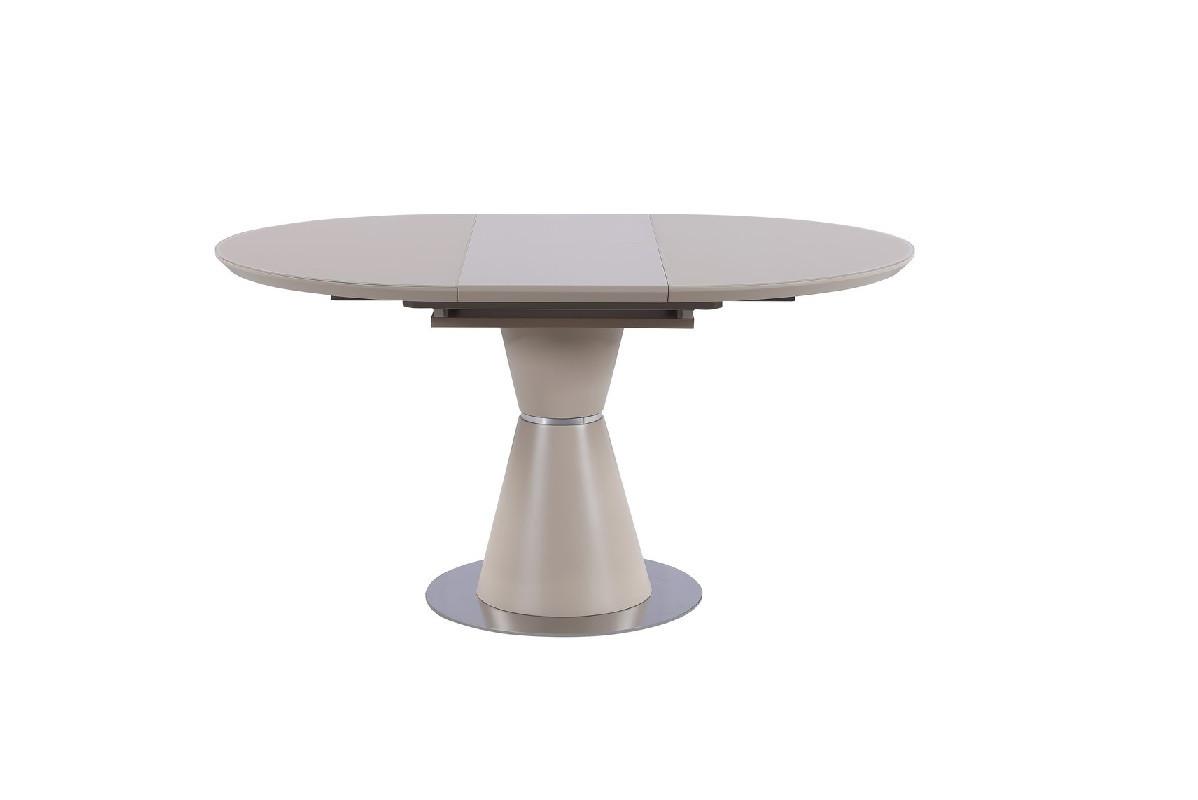 Стол МДФ+матовое стекло TML-651-1 капучино