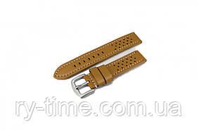*Шкіряний ремінець для годинника W20L 20 mm (Mustard White)(007533)