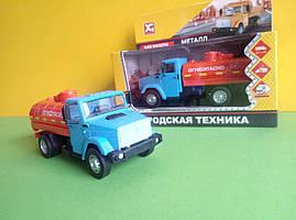 Іграшка бензовоз Зіл-4329 вантажівка X Toys