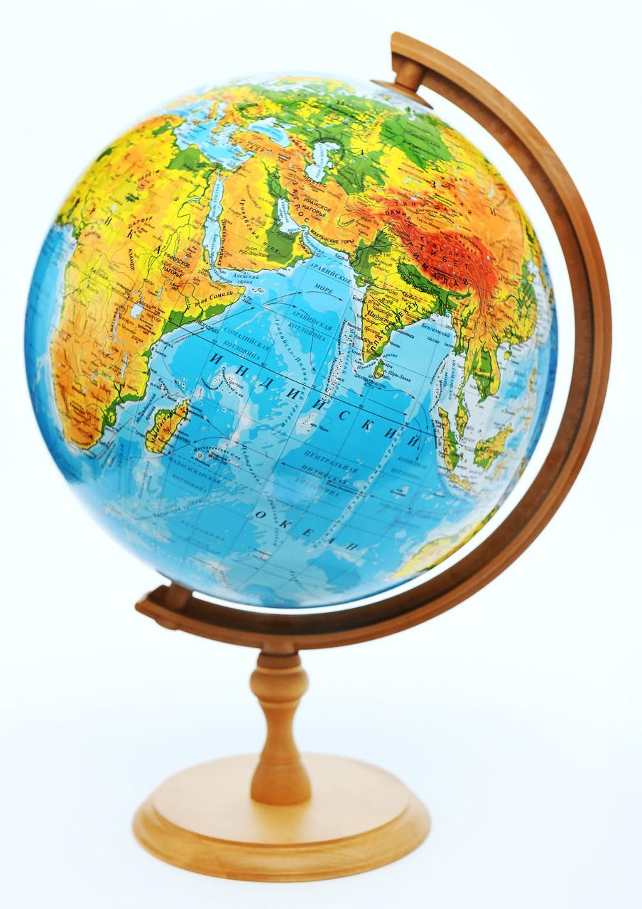 Глобус физико- политический 320 мм, с подсветкой, пр-во Польша