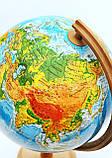 Глобус физико- политический 320 мм, с подсветкой, пр-во Польша, фото 2