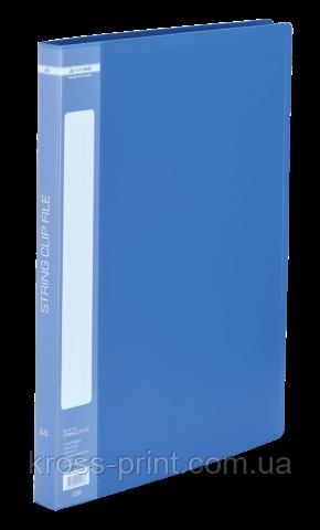 Папка пластикова з швидкозшивачем, А4, синя