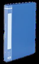 Папка пластиковая с скоросшивателем, A4, синяя