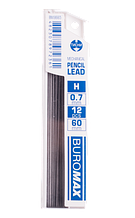 Стержни для механических карандашей, H, 0.7 мм, 12 шт.