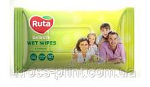 """Серветки вологі """"Ruta Selecta"""" для всіеї родини 60 шт"""