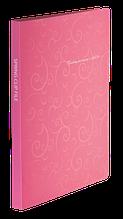 Папка пластиковая с скоросшивателем, BAROCCO, A4, розовая