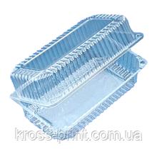 Одноразовий Контейнер для харчових продуктів, полімерний, 229х129 мм, 450 шт/ящ