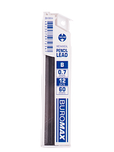 Стрижні для механічних олівців, B, 0.7 мм, 12 шт