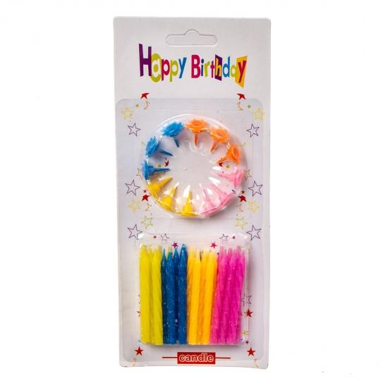 """Свечи для торта """"Цветные"""""""