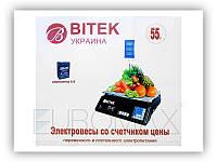 Ваги електронні торгові 55кг 6В зі стійкою BITEK YZ-208+, фото 1