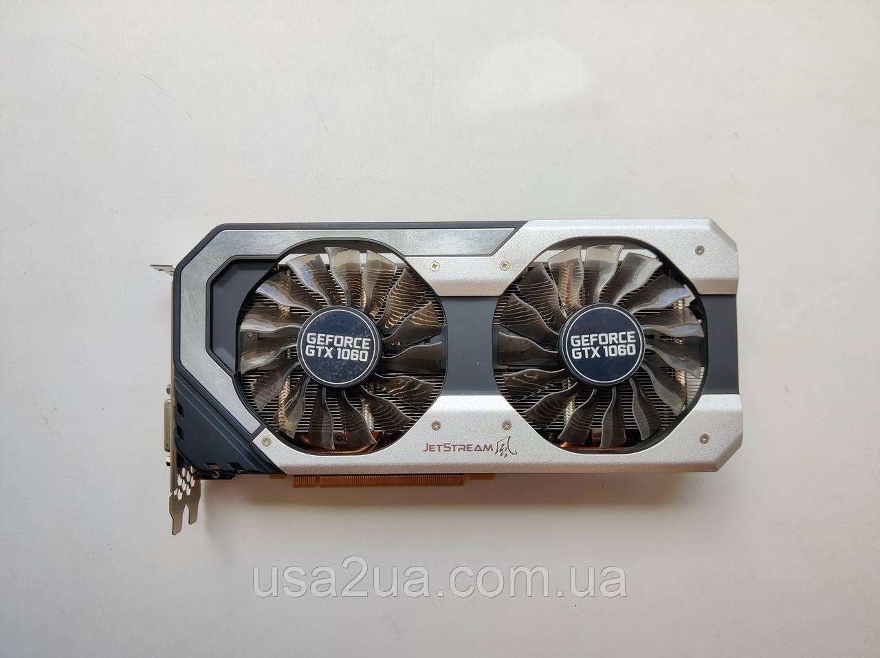 Відеокарта Palit JetStream GeForce GTX 1060 6 GB GDDR5 192-bit гарантія кредит