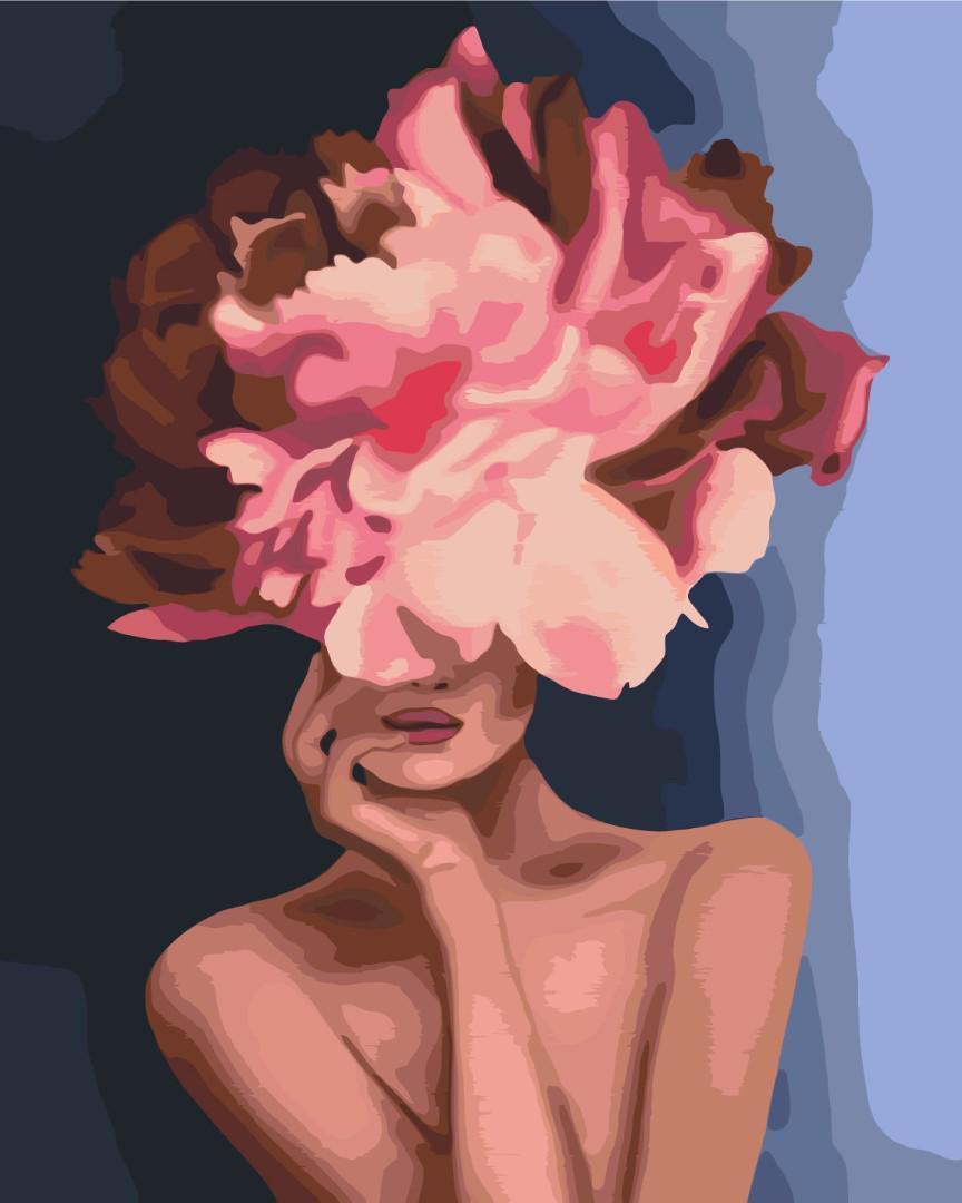 Картина малювання за номерами Витончений квітка BS34806 40х50см розпис по цифрам набір для малювання, полотно,