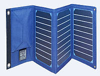 Power bank 8000 mAh Solar, (5V / 200mA), 2xUSB, 5V / 1A / 2,1A, USB  microUSB, ударо захищений прогумований