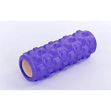 Массажный ролик, валик для массажа спины (массажер для спины, шеи, ног) OSPORT 33*14см (MS 0857-9) Фиолетовый