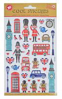 """Набор декоративных стикеров с тиснением """"London"""""""