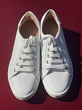 Білі шкіряні кеди, кеды из натуральной кожи, кроссовки
