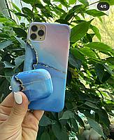 Чехлы на iPH и Наушники Air Pods Pro мраморных цветах