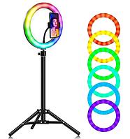 Светодиодное селфи-кольцо RGB LED MJ300 SOFT RING LIGHT