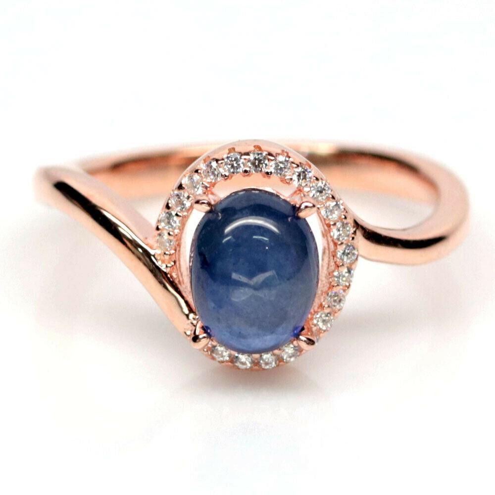 Серебряное кольцо с сапфиром, 1752КС